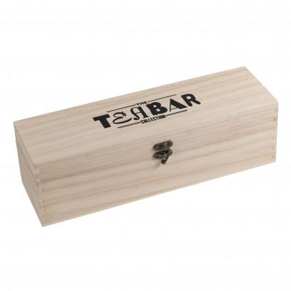 Theekist leeg met Tea Bar logo